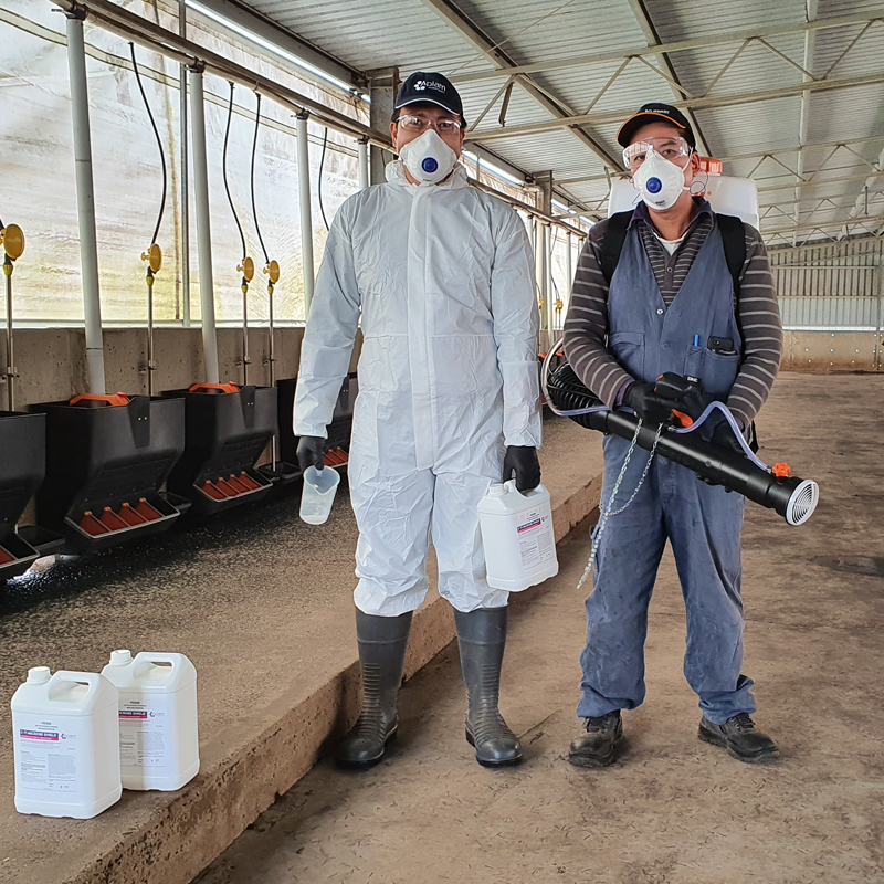 Zoono Fogging with Microbe Shield Z-71 protects agricultural areas
